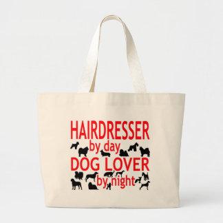 Friseur-Hundeliebhaber Jumbo Stoffbeutel