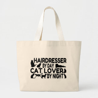 Friseur-Katzen-Liebhaber Jumbo Stoffbeutel