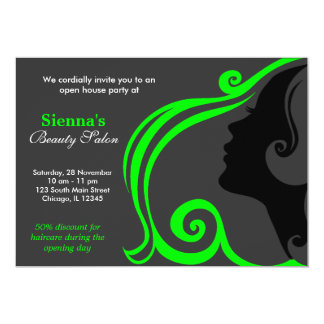 Friseur (Limon) 12,7 X 17,8 Cm Einladungskarte