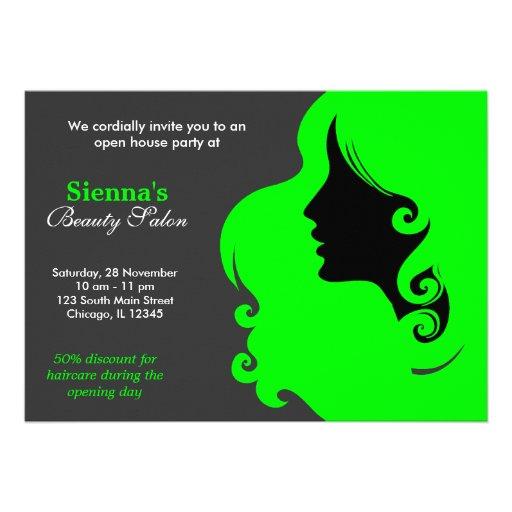 Friseur (Limon) Einladungskarten