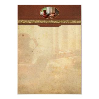 Friseur - Morgengewohnheiten 12,7 X 17,8 Cm Einladungskarte
