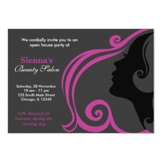 Friseur (Pflaume) 12,7 X 17,8 Cm Einladungskarte