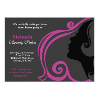 Friseur Pflaume Personalisierte Einladungskarte