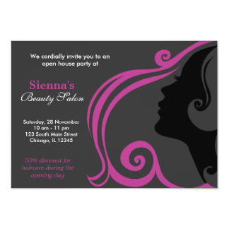 Friseur (Pflaume) Personalisierte Einladungskarte