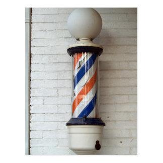 Friseur Pole Postkarte