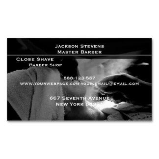 Friseur-Rasur-gerade Rand-Rasiermesser-Fotografie Magnetische Visitenkarten