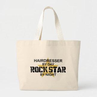 Friseur-Rockstar bis zum Nacht Jumbo Stoffbeutel