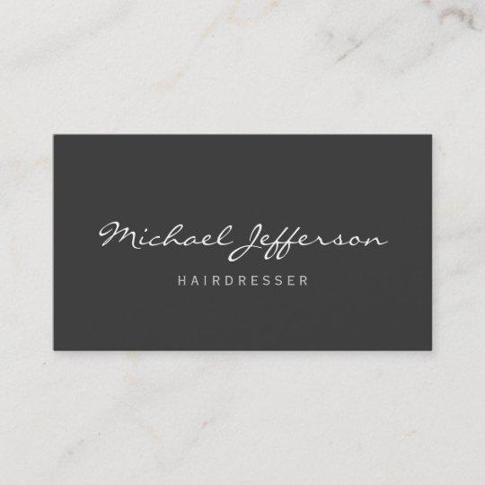 Friseur Skript Berufliche Geschäfts Karte Visitenkarte