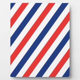 Friseur-Streifen Fotoplatte