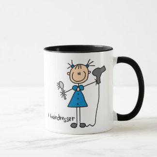 Friseur-Strichmännchen-Tasse Tasse