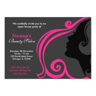 Friseur (tiefrosa) 12,7 x 17,8 cm einladungskarte