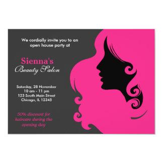 Friseur (tiefrosa) einladungskarte