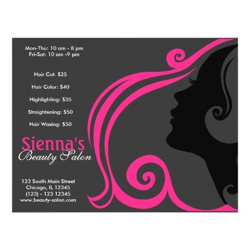 Friseur (tiefrosa) personalisierte flyer