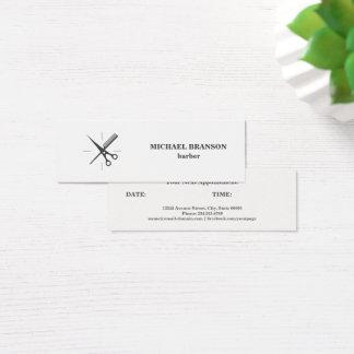 Friseur-unbedeutendes Grau Scissor Mini Visitenkarte