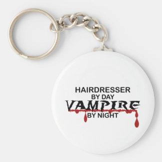 Friseur-Vampir bis zum Nacht Standard Runder Schlüsselanhänger