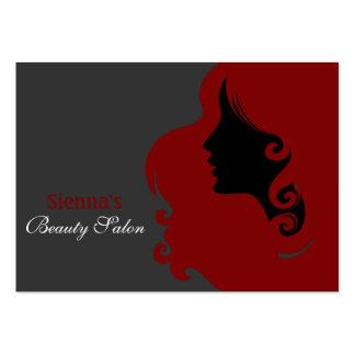 Friseur-Verabredungs-Karte (dunkelrot) Jumbo-Visitenkarten