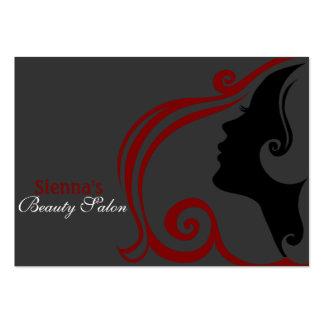 Friseur-Verabredungs-Karte (dunkelrot) Mini-Visitenkarten