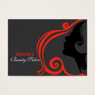 Friseur-Verabredungs-Karte (Firebrick) Jumbo-Visitenkarten