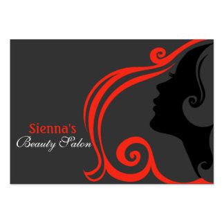 Friseur-Verabredungs-Karte (Firebrick) Mini-Visitenkarten