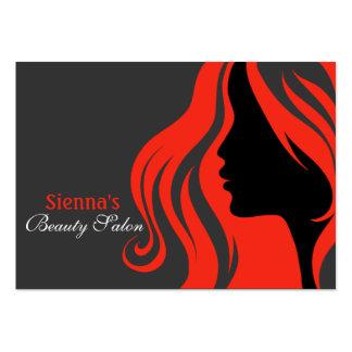 Friseur-Verabredungs-Karte (Firebrick) Visitenkarten Vorlage