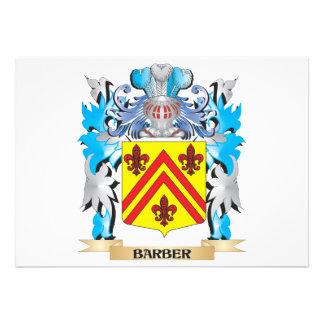 Friseur-Wappen Personalisierte Einladung