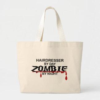 Friseur-Zombie Jumbo Stoffbeutel