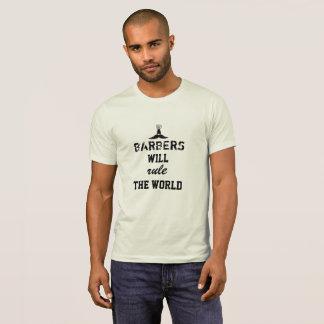 Friseure ordnen den WeltT - Shirt an