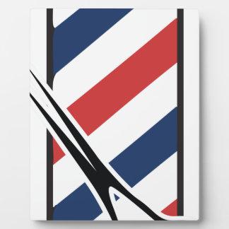 Friseurpfosten Fotoplatte