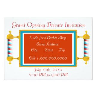 Friseursalon-festliche Eröffnung 12,7 X 17,8 Cm Einladungskarte
