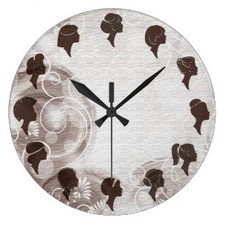 Friseursalon-Friseur-elegante Brown-Uhr Uhren