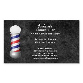 Friseursalon-Friseur-Pole-Leder Magnetische Visitenkarten