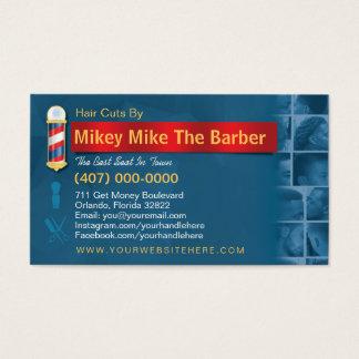 Friseursalon-Geschäft Karte-Friseur Pfosten, Visitenkarte