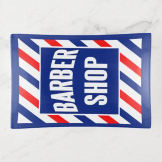 Friseursalon-Zeichen-Spitze-Behälter zwei Dekoschale