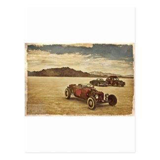 Frisierte Autos bei Bonneville Postkarte