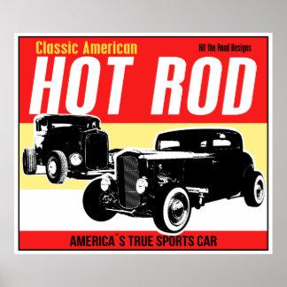 Frisiertes Auto - klassische amerikanische Poster