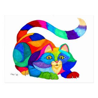 Frisky Katze Postkarten