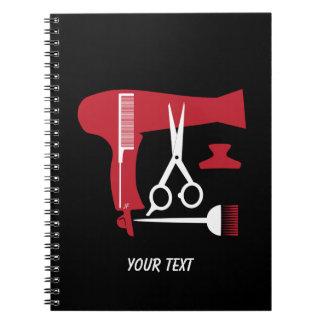 Frisurwerkzeuge Notizblock