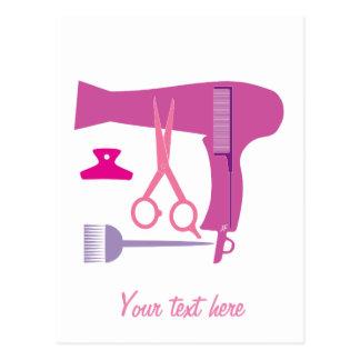 Frisurwerkzeuge Postkarte