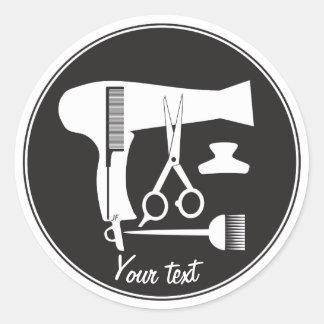 Frisurwerkzeuge Runder Aufkleber