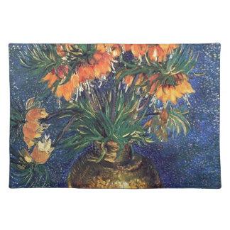 Fritillaries in einem kupfernen Vase durch Van Tischset