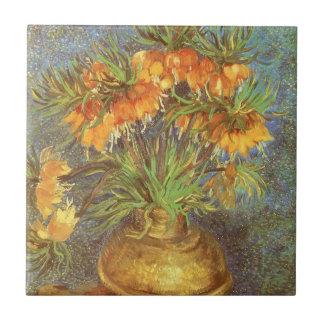 Fritillaries in einem kupfernen Vase durch Vincent Keramikfliese