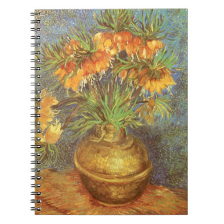 Fritillaries in einem kupfernen Vase durch Vincent Notizblock