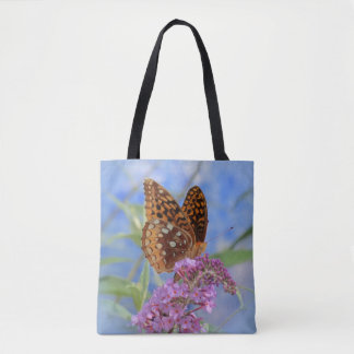 Fritillary auf Blau - Schmetterling Tasche