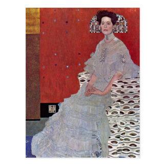 Fritza Reidler Klimt durch Gustav Klimt Postkarte