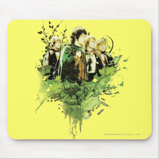 FRODO™ mit Hobbits vektorcollage Mousepad