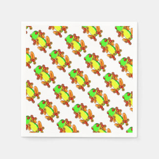 Frog spinner serviette