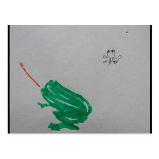 Frogger Postkarte