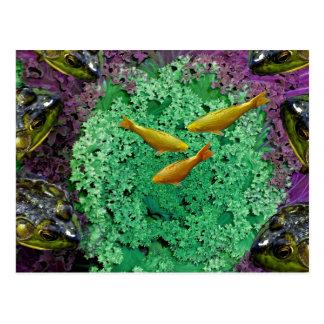 Froggery 2 mit Koi magischem surrealem Kind Postkarten