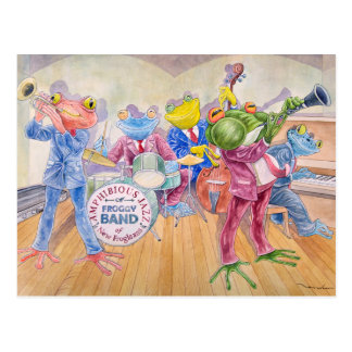 """Froggy Band"" Postcard Postkarte"