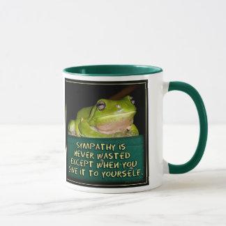 Froggy-Beileid ist nie vergeudete Kaffee-Tasse Tasse